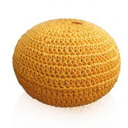 Żółta pufa dla dzieci