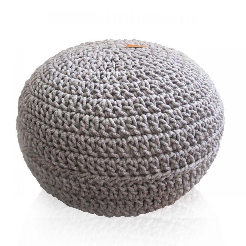 Szara pufa handmade