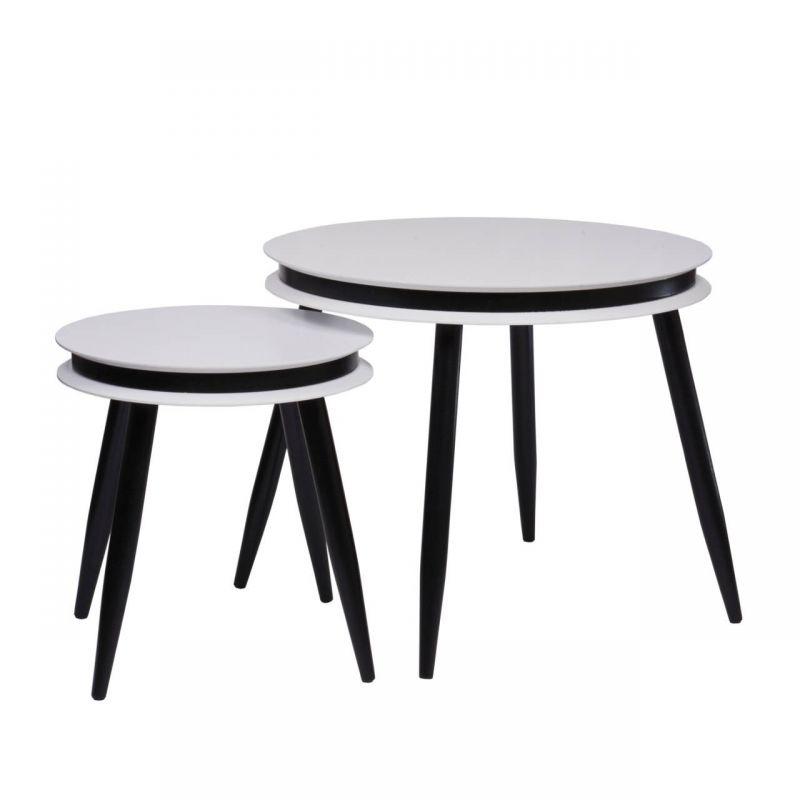 2x stolik kawowy w skandynawskim stylu