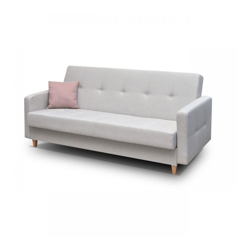 Klasyczna kanapa z funkcją spania i pojemnikiem