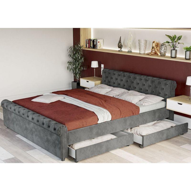 łóżko Sypialniane Z Szufladami 140 Cm Solidne Meble Meble Online