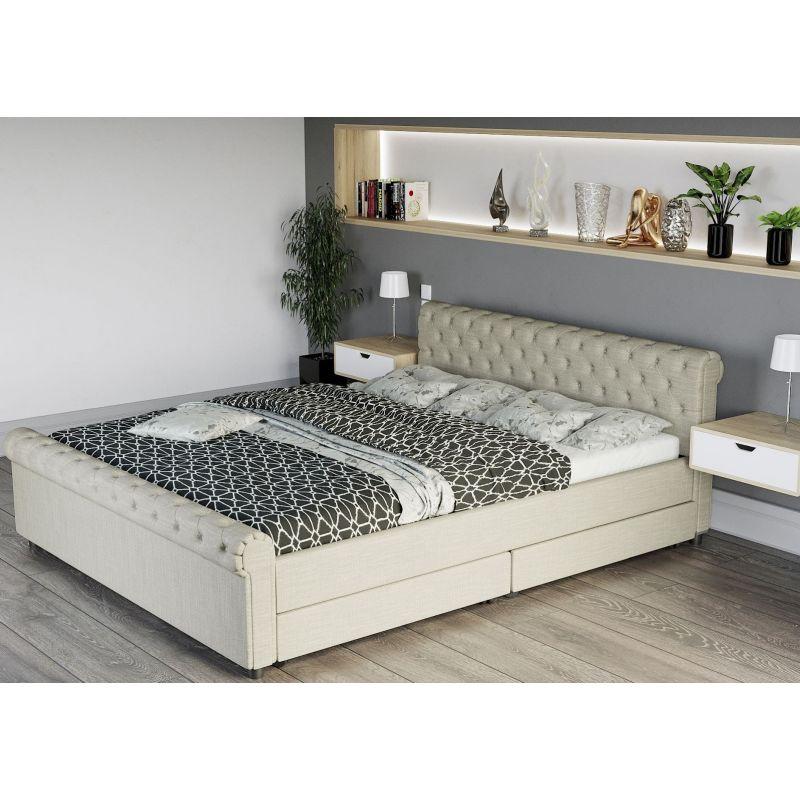 łóżko 160 Cm Z Szufladami łóżko Podwójne Muna Meble