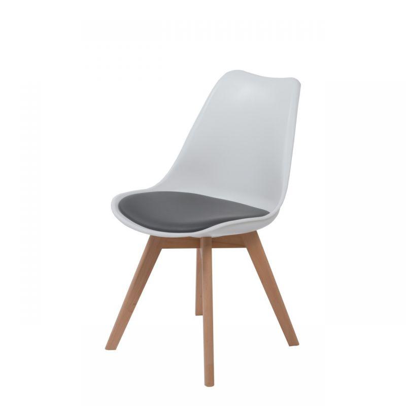 Białe Krzesło W Stylu Skandynawskim Do Kuchni