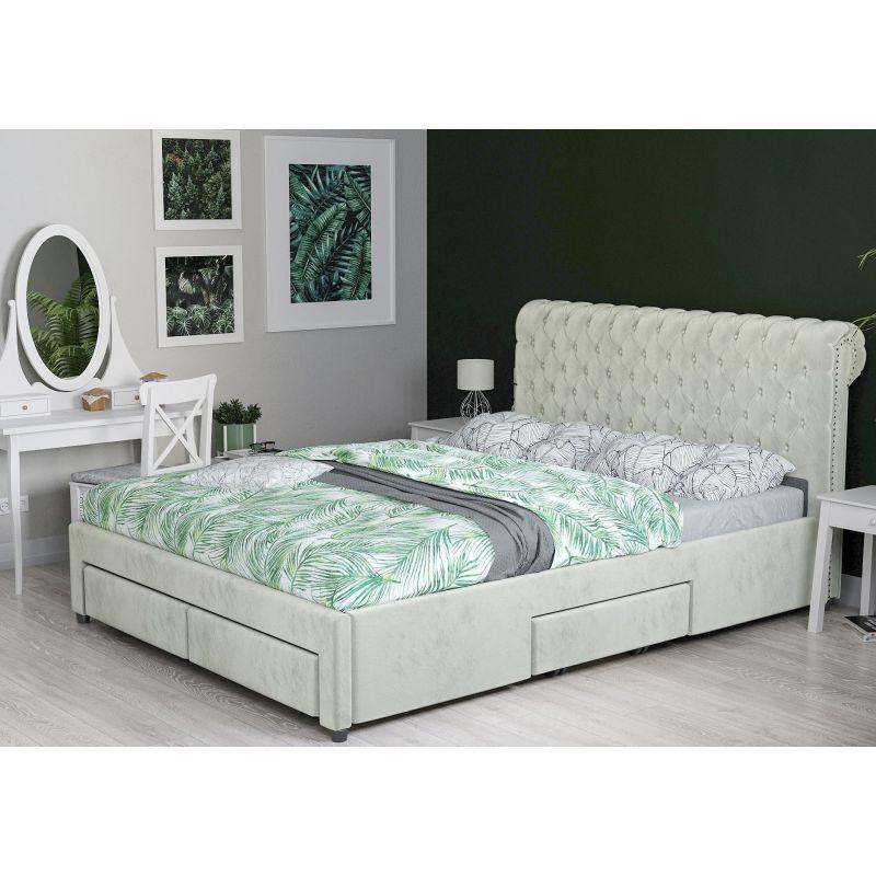 Wygodne łóżko 140 Cm Z Szufladami I Stelażem Online