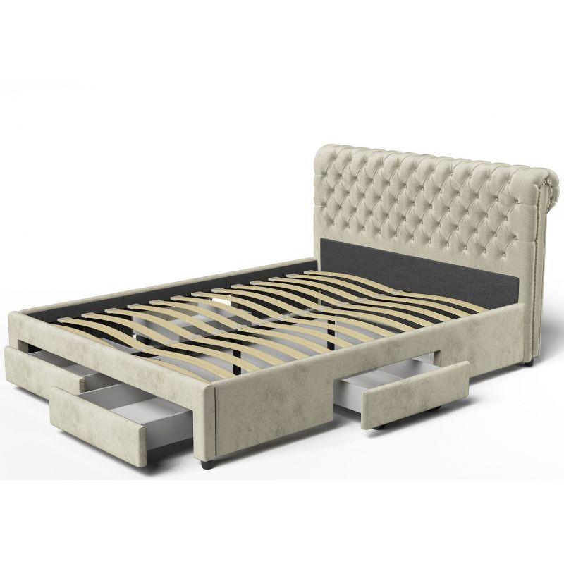 łóżko Tapicerowane 180x200 Z Pojemnikami Meble Przez Internet