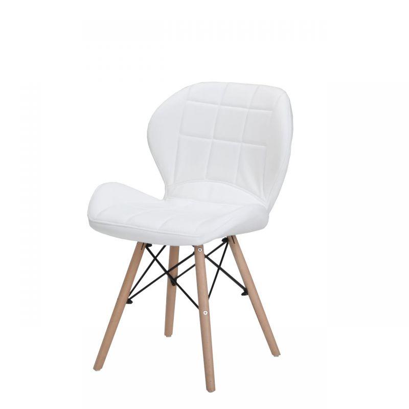 Krzesło skandynawskie białe wyprofilowane