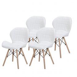 Białe krzesła tapicerowane do jadalni