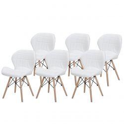 Białe krzesła tapicerowane - nowoczesne meble