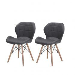 Skandynawskie szare krzesła do kuchni
