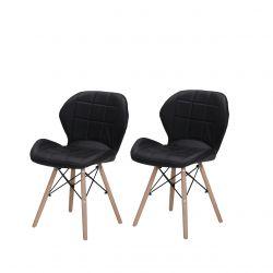 Krzesła czarne tapicerowane do jadalni