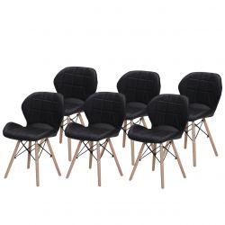 Nowoczesne krzesła skandynawskie tapicerowane czarne