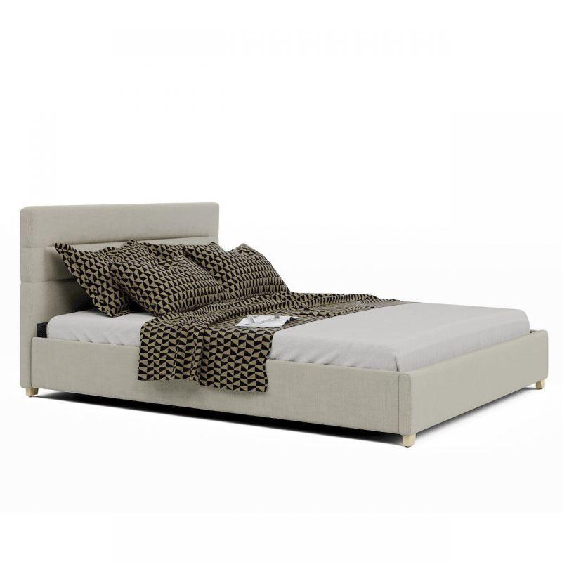 Łóżko pojedyncze tapicerowane ze skrzynią 120x200