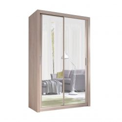 Rozsuwana szafa z lustrem wąska 120 cm szerokości