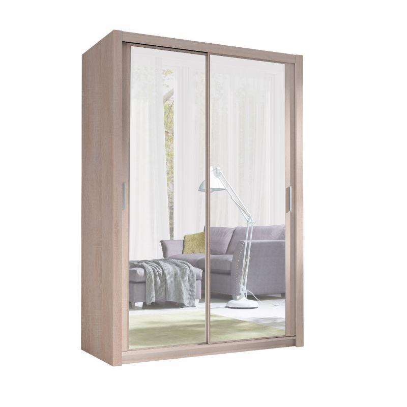 Szafa z lustrem przesuwna 150 cm z półkami