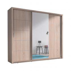 Duża szafa dąb sonoma z przesuwnymi drzwiami