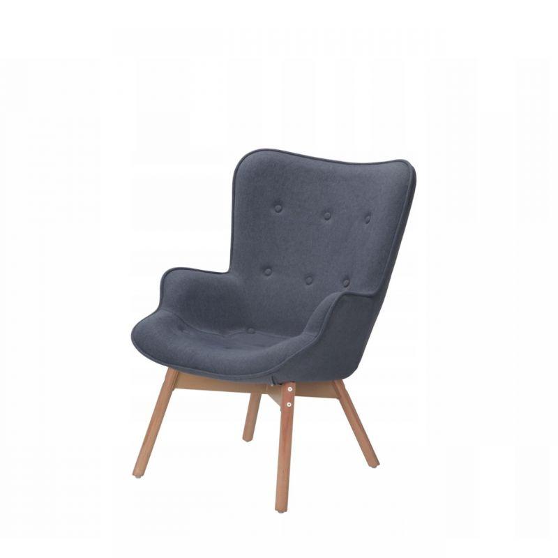 Fotel uszak w stylu skandynawskim z wysokim oparciem