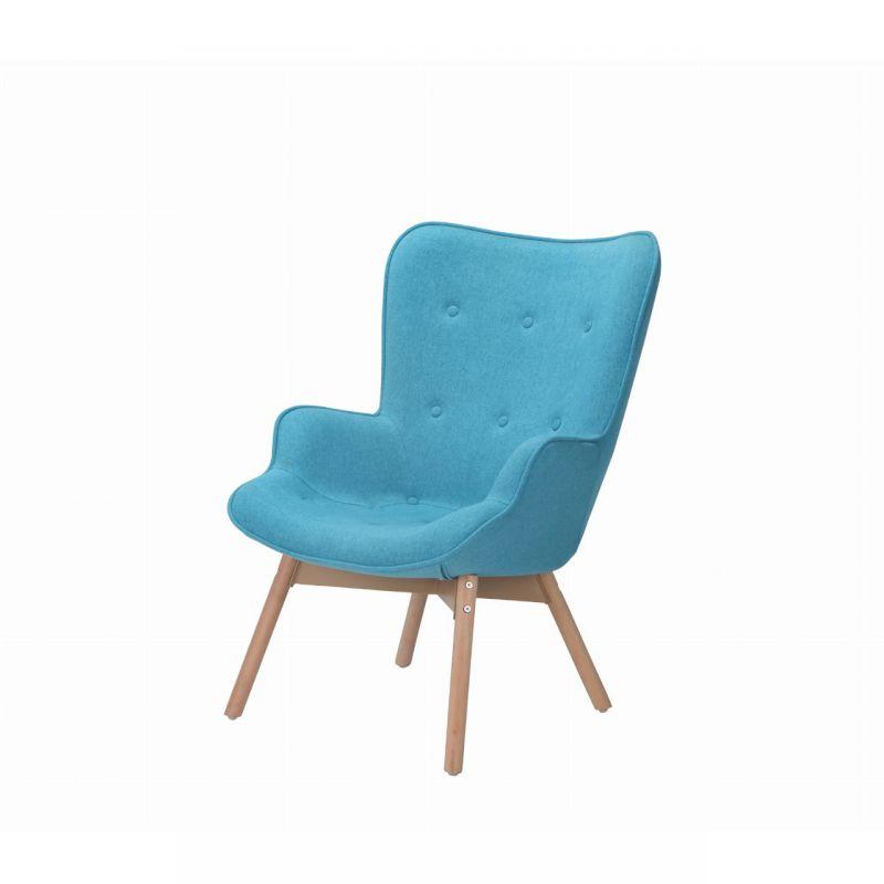 Uszak fotel turkusowy tapicerowany do czytania