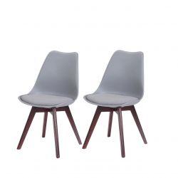 2 krzesła szare skandynawskie