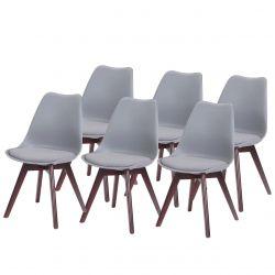 Krzesła do kuchni styl skandynawski 6 szt