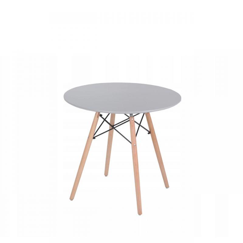 Okrągły stół do kuchni w stylu skandynawskim