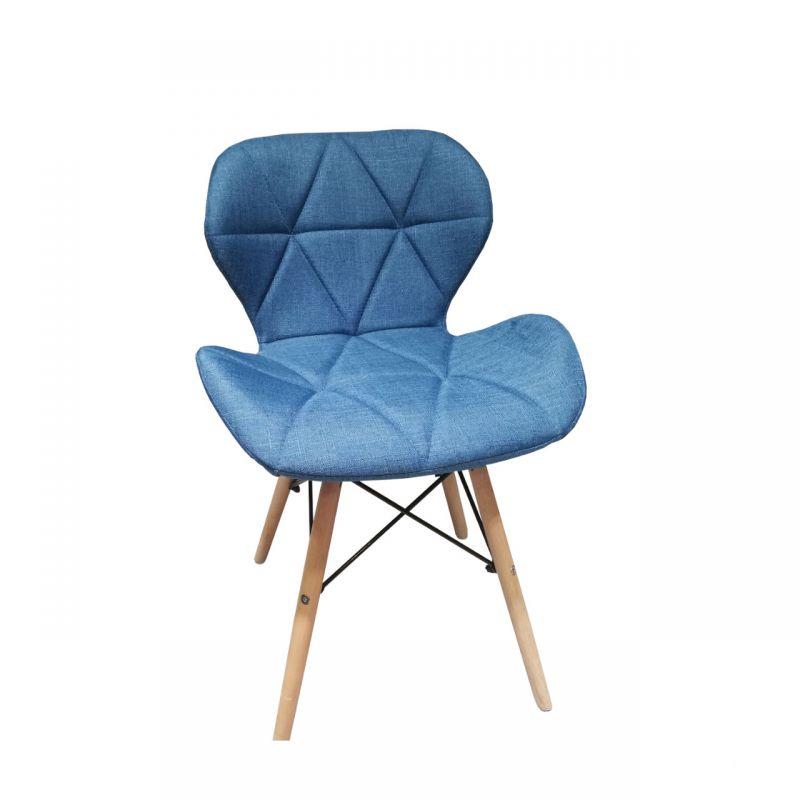 Krzesło turkusowe tapicerowane