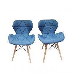 Turkusowe krzesła do kuchni