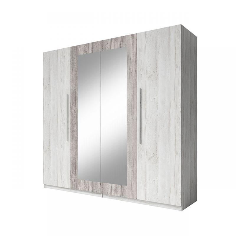 Duża szafa wolnostojąca z lustrem