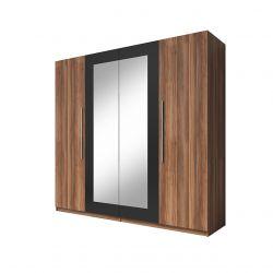Duża szafa uchylna z lustrem do sypialni 225 cm