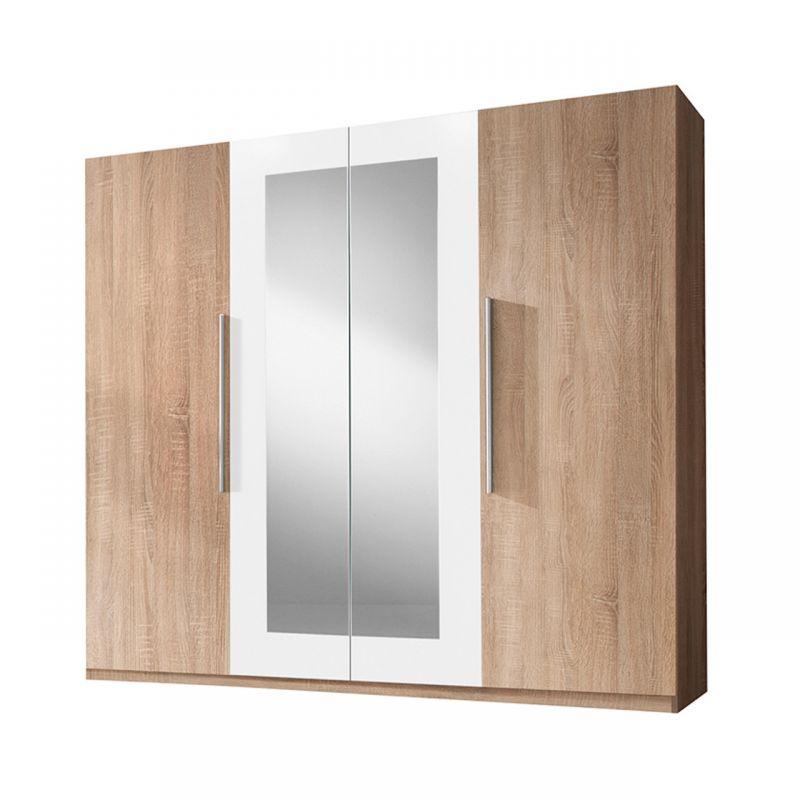 Duża szafa drzwi uchylne z lustrem