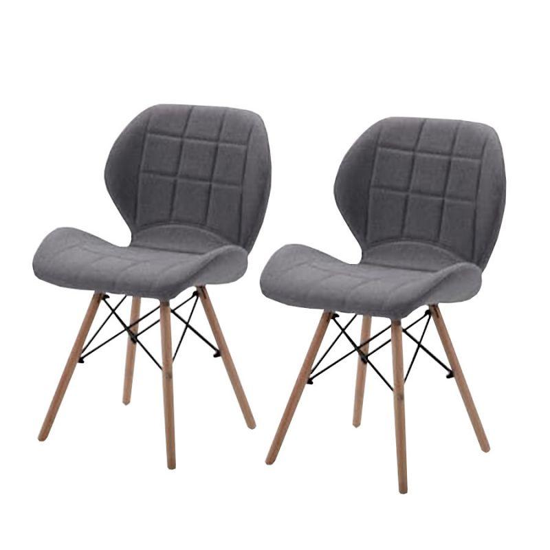 Skandynawskie krzesła tapicerowane dla dwojga
