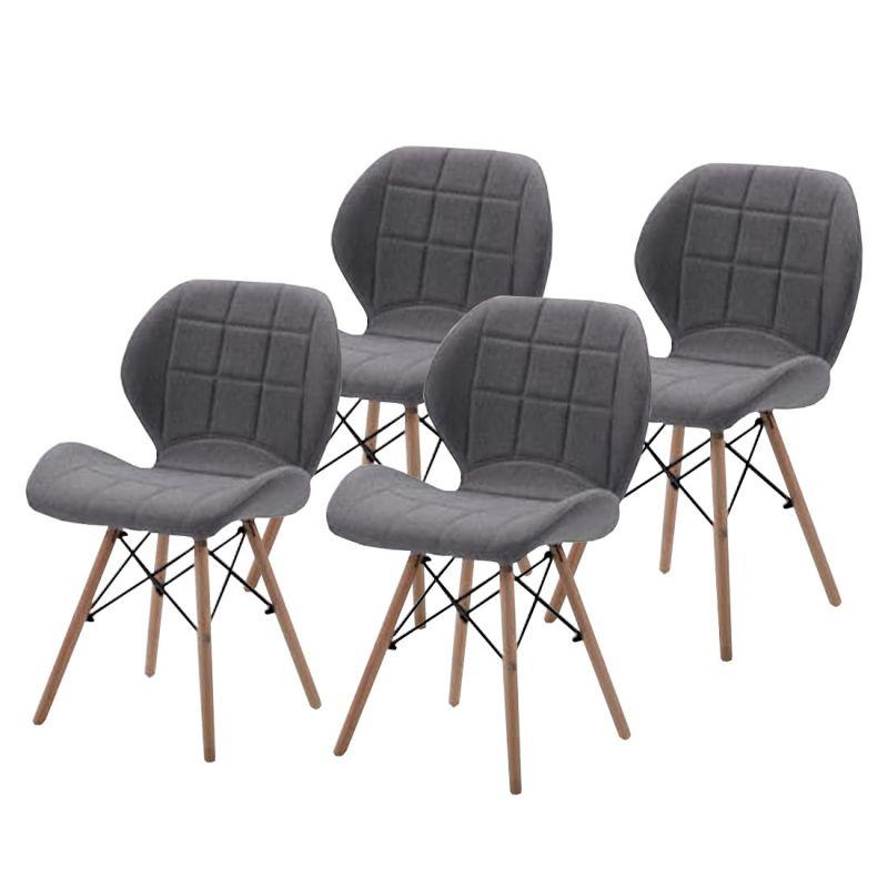 Skandynawskie krzesła szare komplet 4 szt.