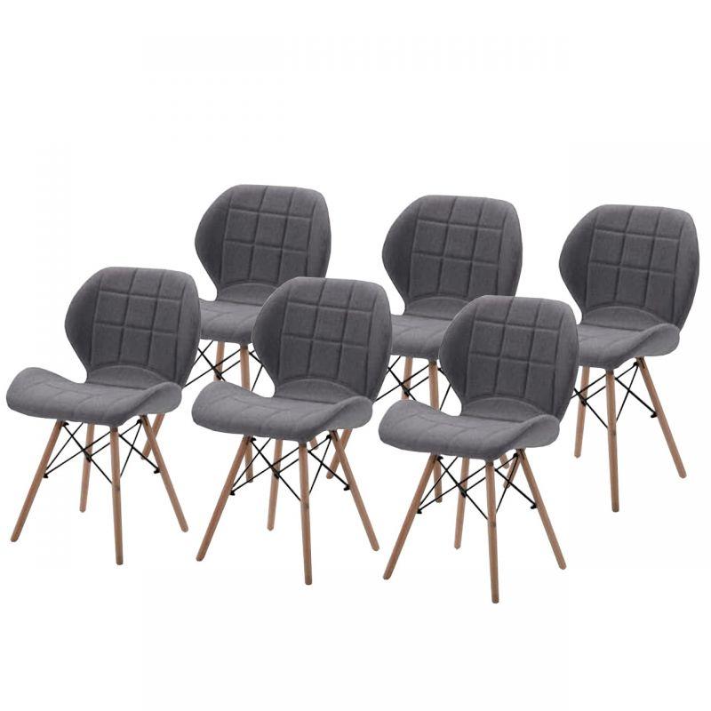 Zestaw skandynawskich krzeseł do kuchni dla 6 osób
