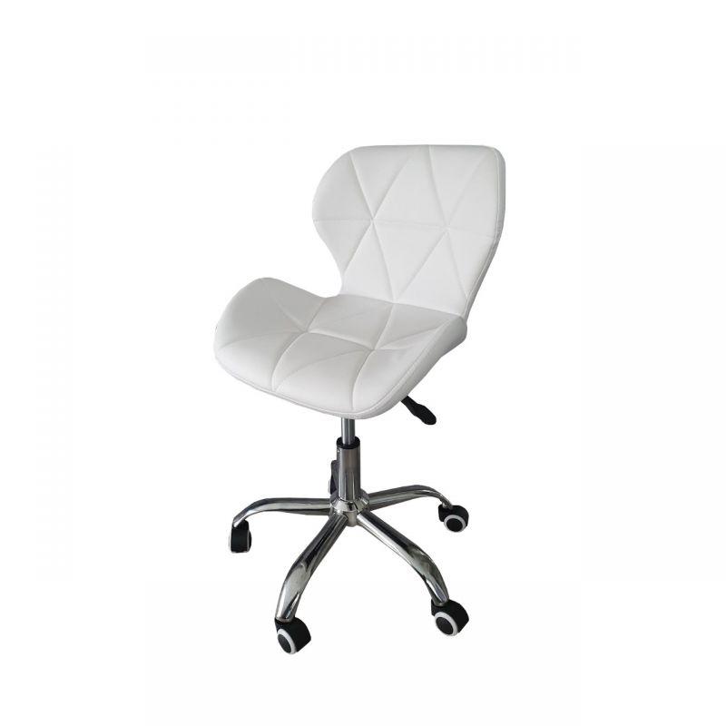 Krzesło białe obrotowe do toaletki