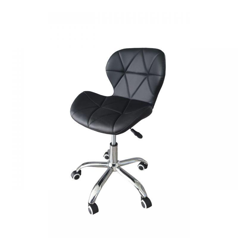 Czarne krzesło do komputera ekoskóra