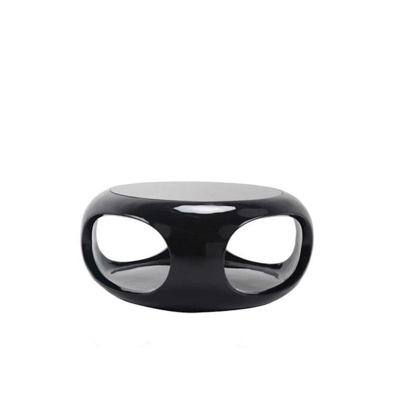 Stolik kawowy okrągły czarny 100 cm