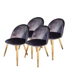 Zestaw nowoczesnych krzeseł 4 szt.