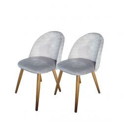 Para krzeseł welurowych glamour