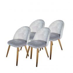 Krzesła do salonu szare komplet 4 szt.