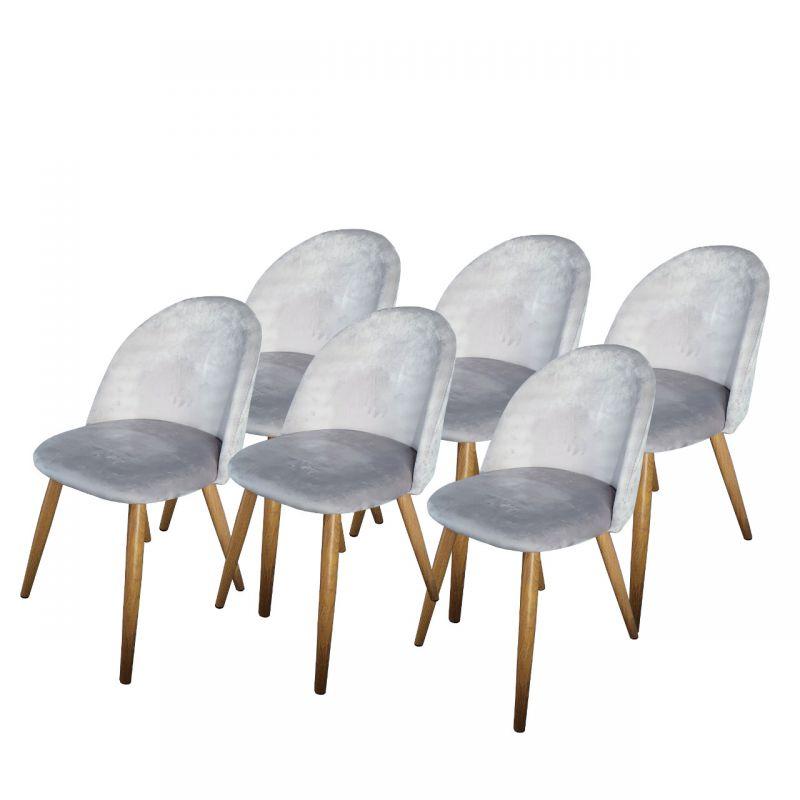 Szare krzesła tapicerowane 6 szt.