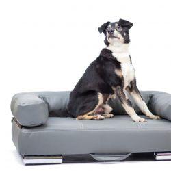 Nowoczesna kanapa dla psa z eko skóry