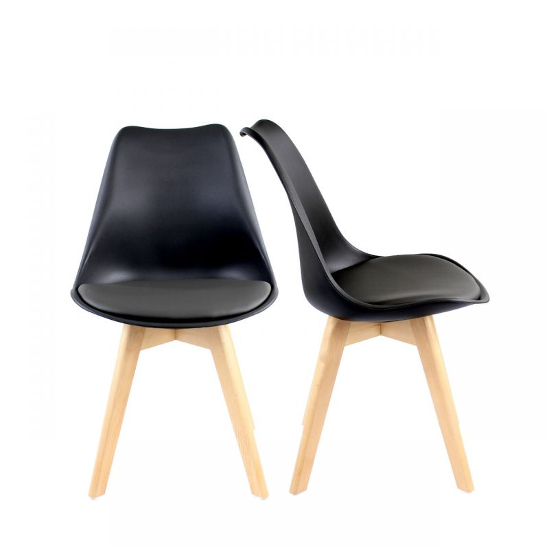 Czarne krzesło w stylu skandynawskim MUNA MEBLE