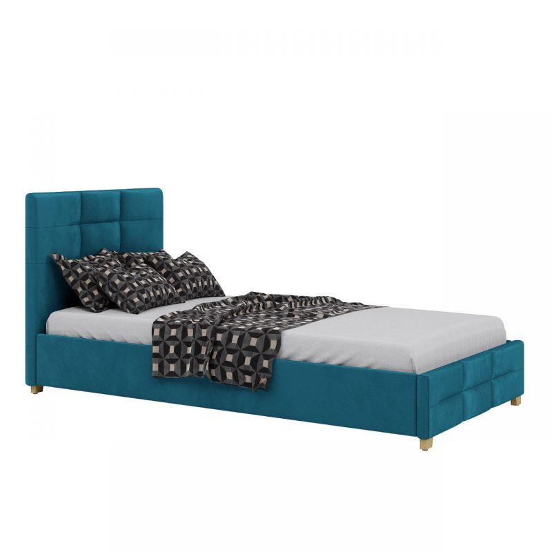 Łóżko młodzieżowe 90x200 w morskim kolorze