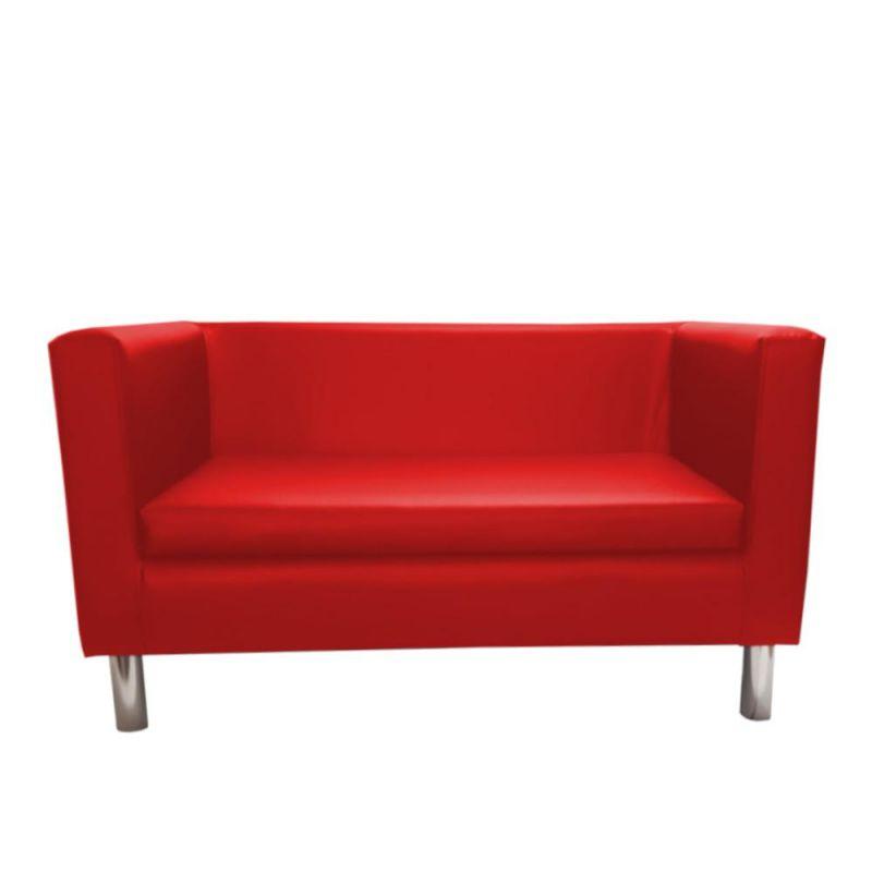 Nowoczesna czerwona sofa do salonu
