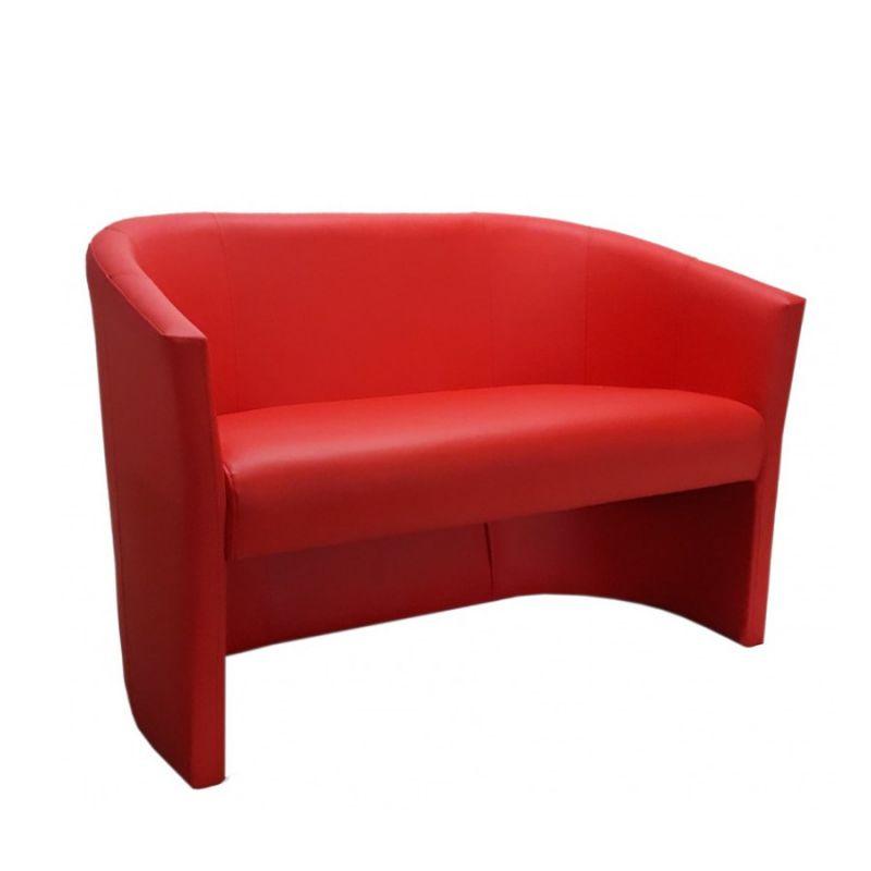 Czerwona kanapa wolnostojąca do poczekalni