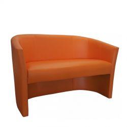 Zielona sofa kubełkowa tapicerowana