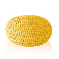 Pufa pleciona żółta 40x20