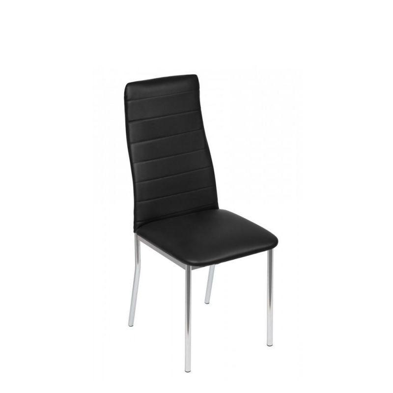 Nowoczesne krzesło czarne jadalniane na płozach