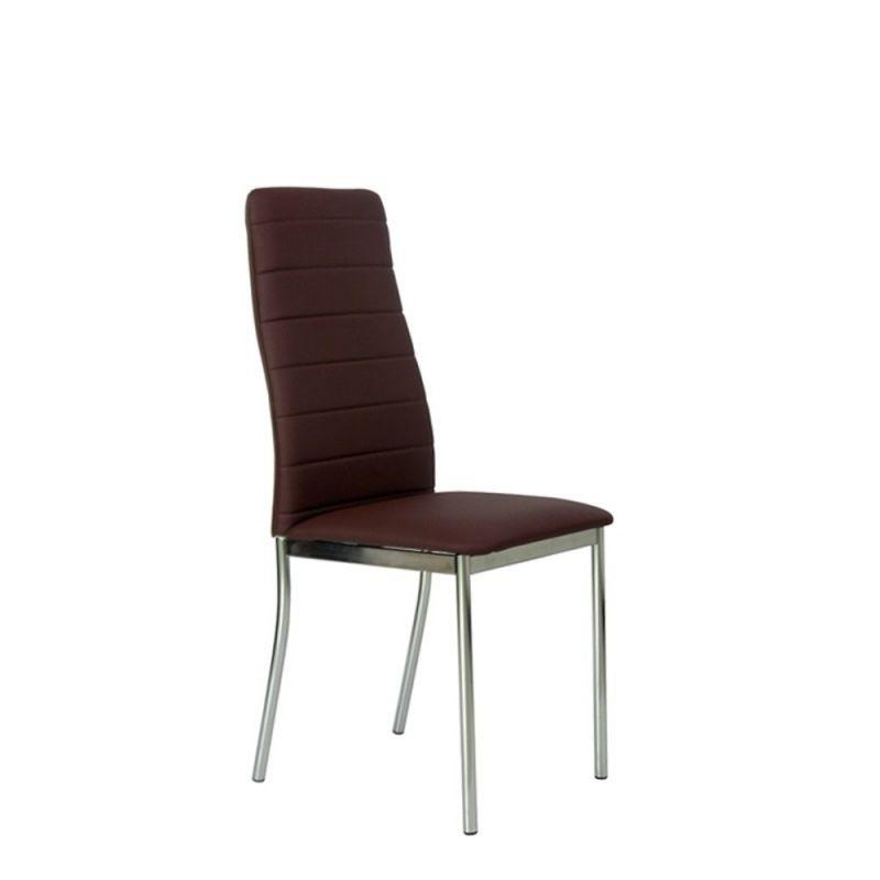 Tapicerowane krzesło do kuchni brązowe