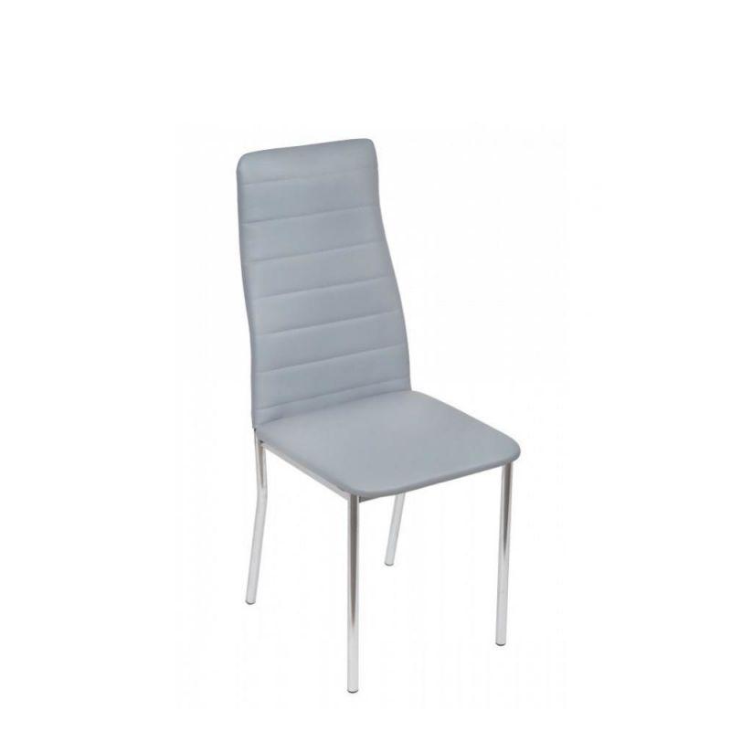 Szare krzesło tapicerowane do salonu