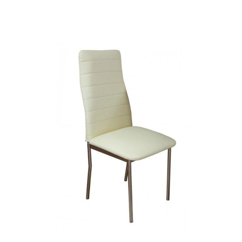 Nowoczesne krzesło kuchenne kolor ecru